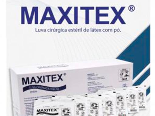 Luvas cirúrgicas MAXITEX – estéreis, látex, com pó