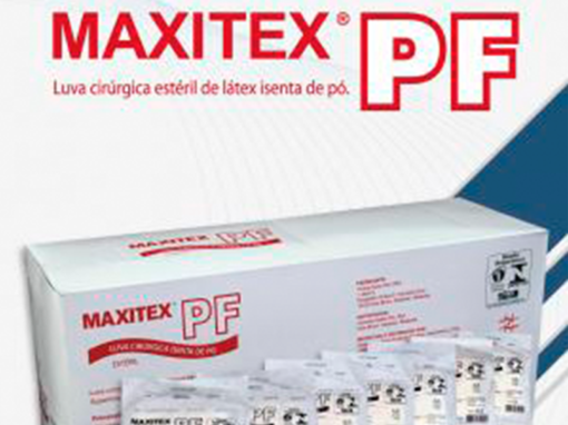 Luvas cirúrgicas MAXITEX PF – estéreis, látex, isentas de pó