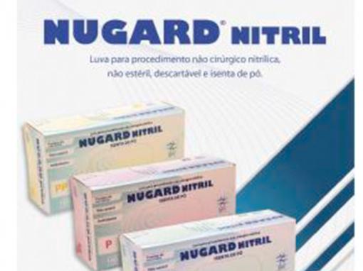 Luvas de Procedimento NUGARD NITRIL – não cirúrgica, nitrílica, isenta de pó