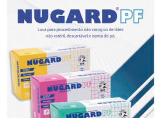 Luvas de Procedimento NUGARD PF – não cirúrgica, látex, isentas de pó