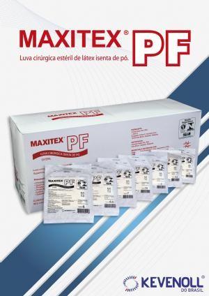 Maxitex PF luva cirúrgica estéril de látex isenta de pó